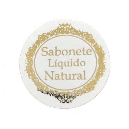 ETIQUETA SABONETE LIQUILO NATURAL - SIMPLES - 50 UNI