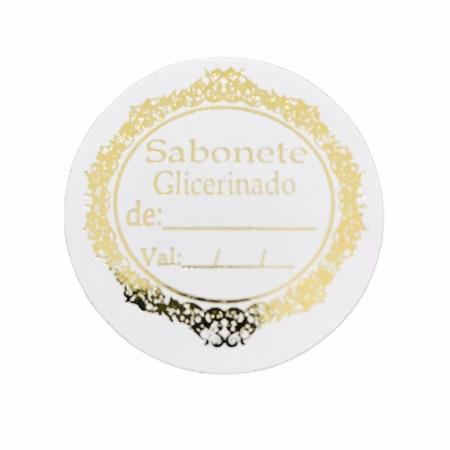 ETIQUETA SABONETE GLICERINADO C/ DATA - SIMPLES - 50 UNI