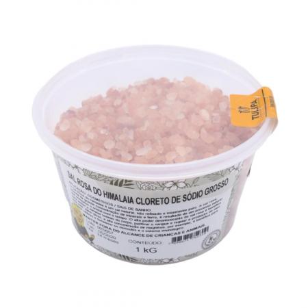 SAL ROSA DO HIMALAIA CLORETO E SODIO GROSO 1 kg (SEM IODO)